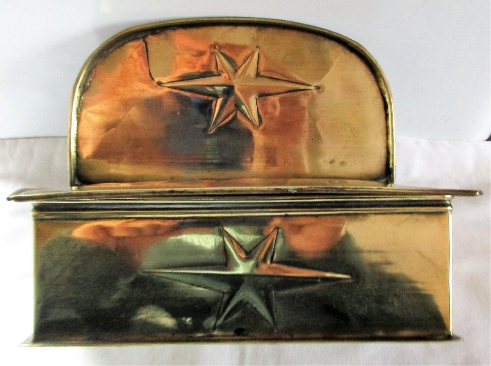 antique english georgian brass hanging box