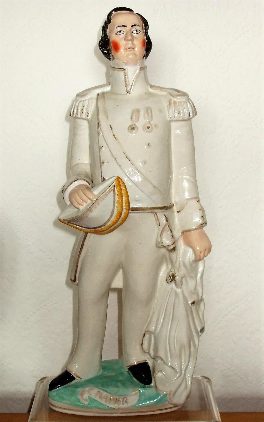 antique english victorian staffordshire pottery portrait figure admiral sir charles napier p c104 h 213