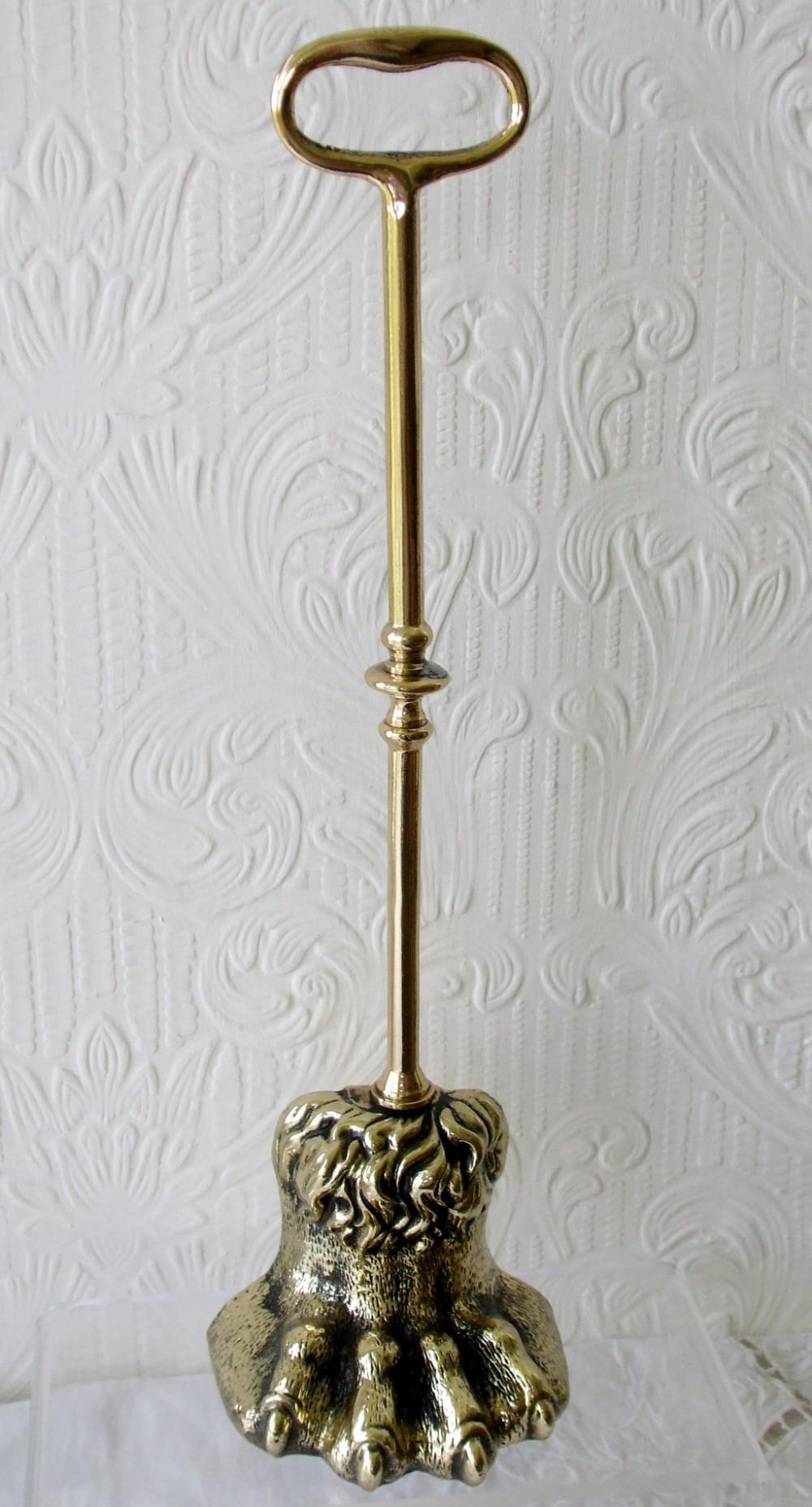 antique english georgian brass door porter doorstop