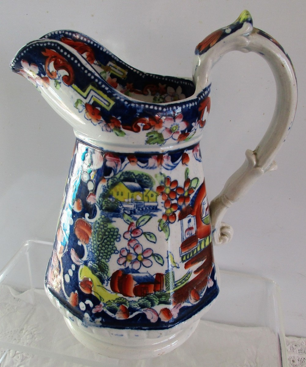 antique english georgian opaque china pottery jug mayer and newbold