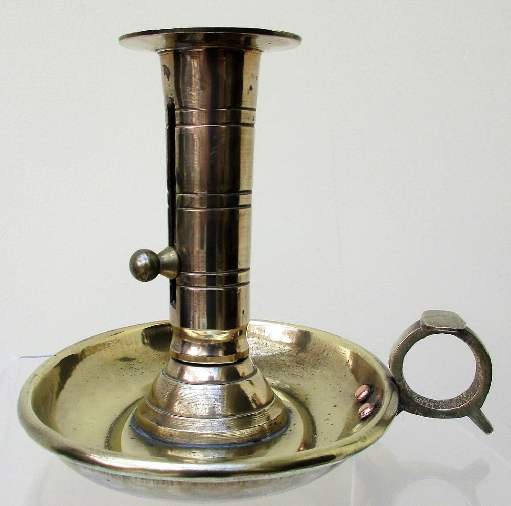antique english georgian brass chamberstick