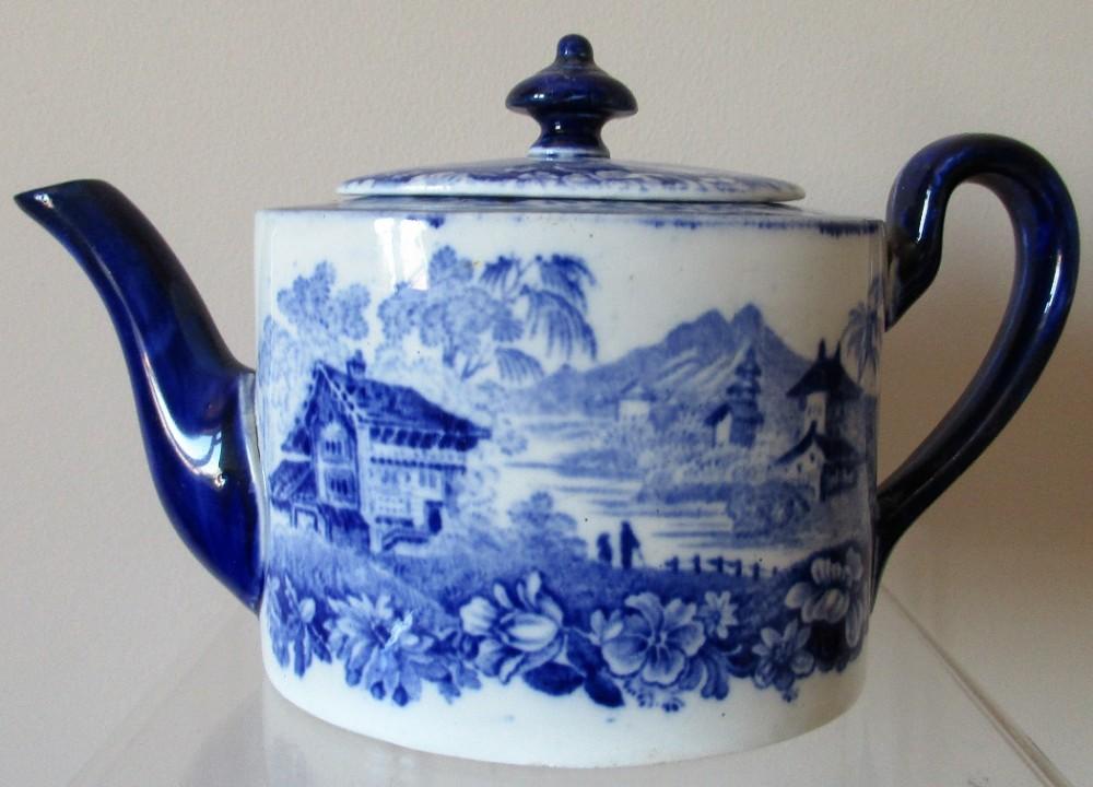 antique english victorian mintons genevese pattern porcelain solitaire teapot
