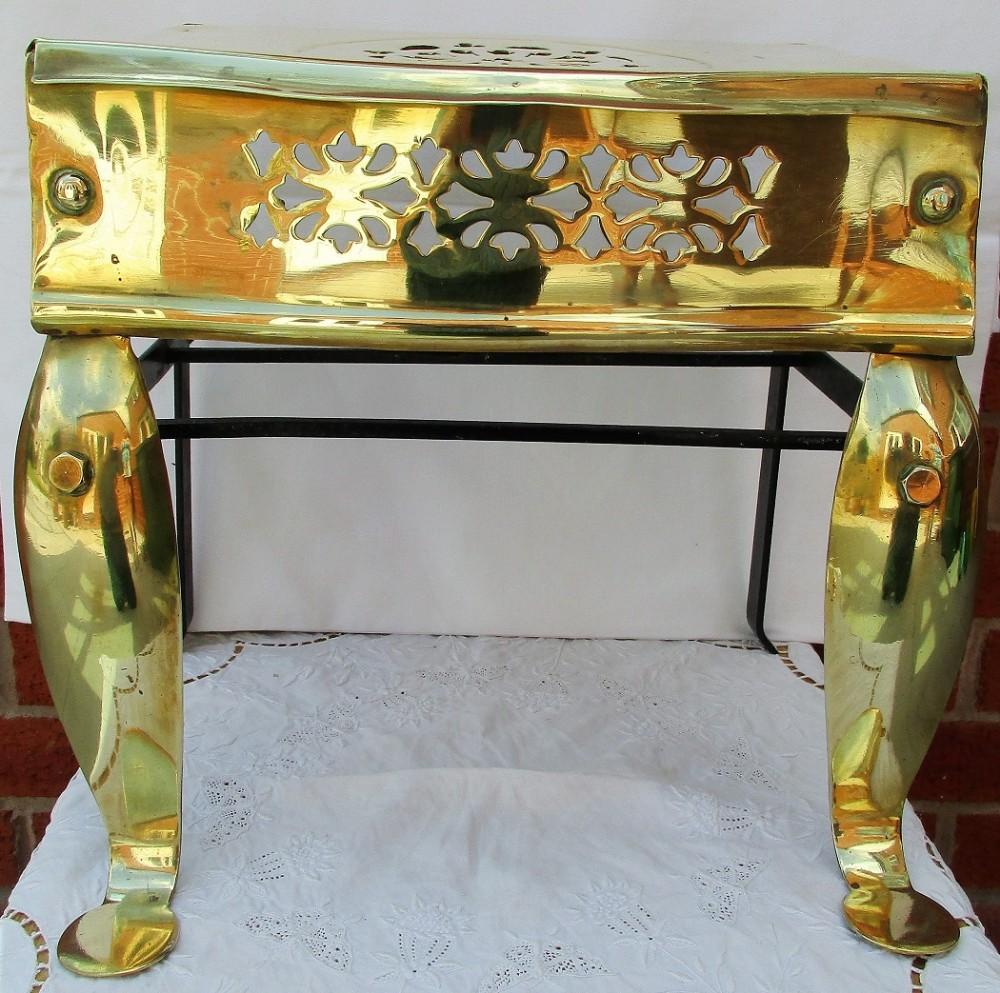 antique english victorian brass and steel footman