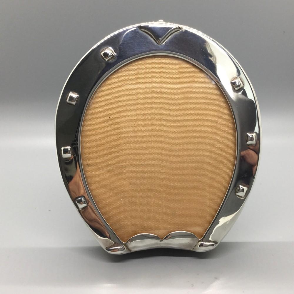 edwardian silver horseshoe photo frame london 1903 cohen charles
