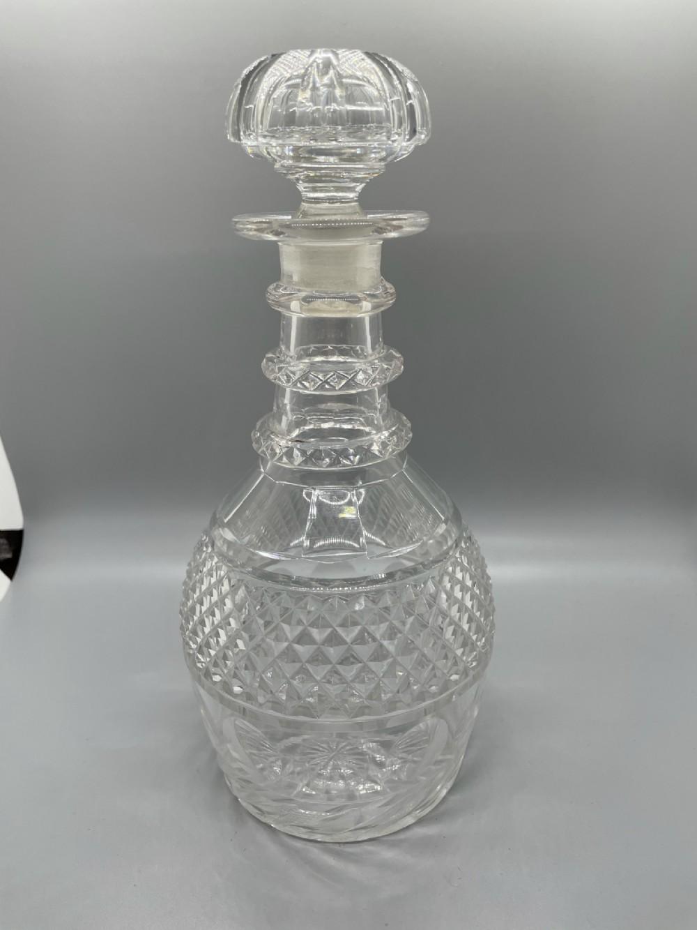 late regency cut lead crystal decanter c1830