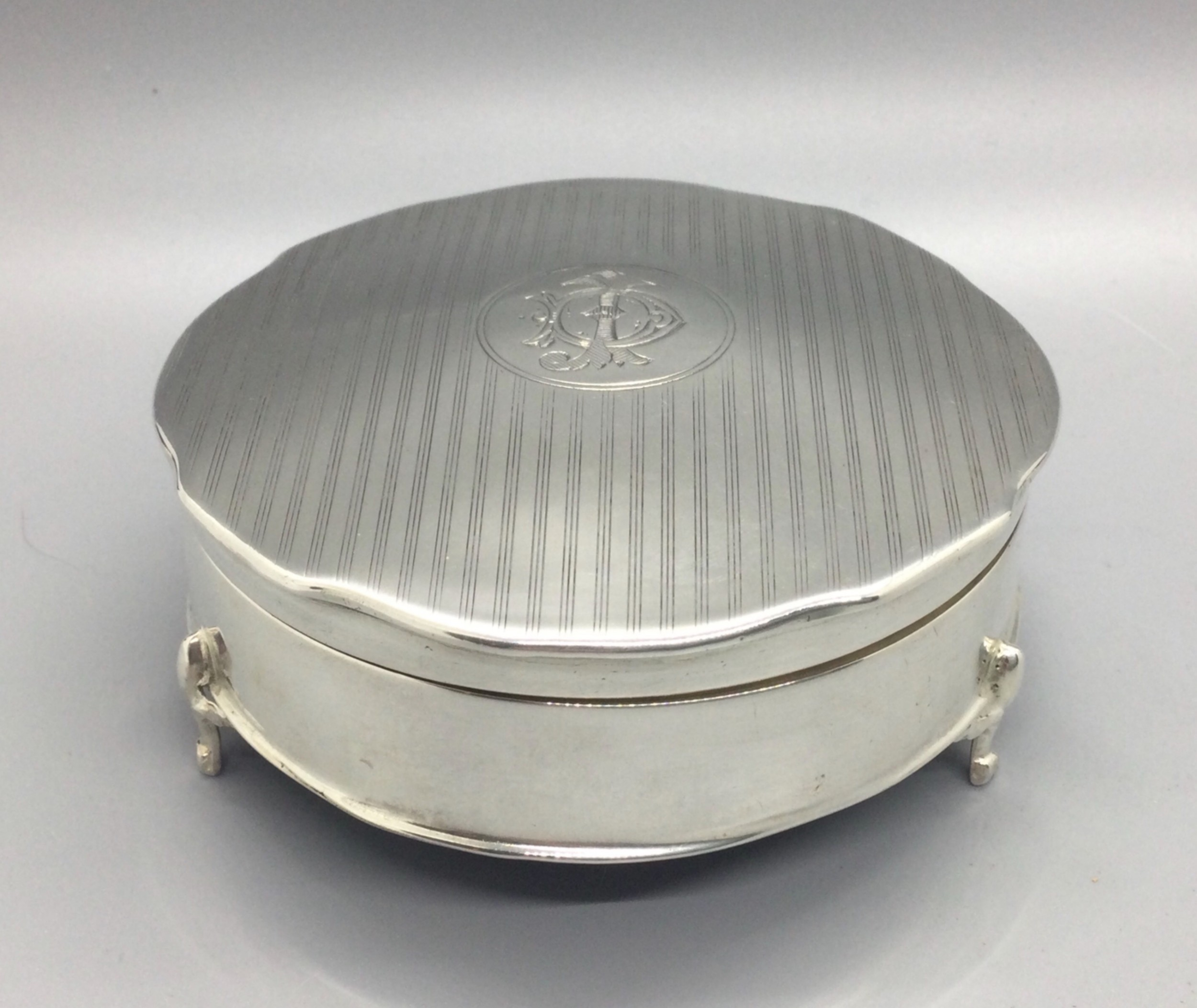 george v silver jewellery box birmingham 1913 elkington co