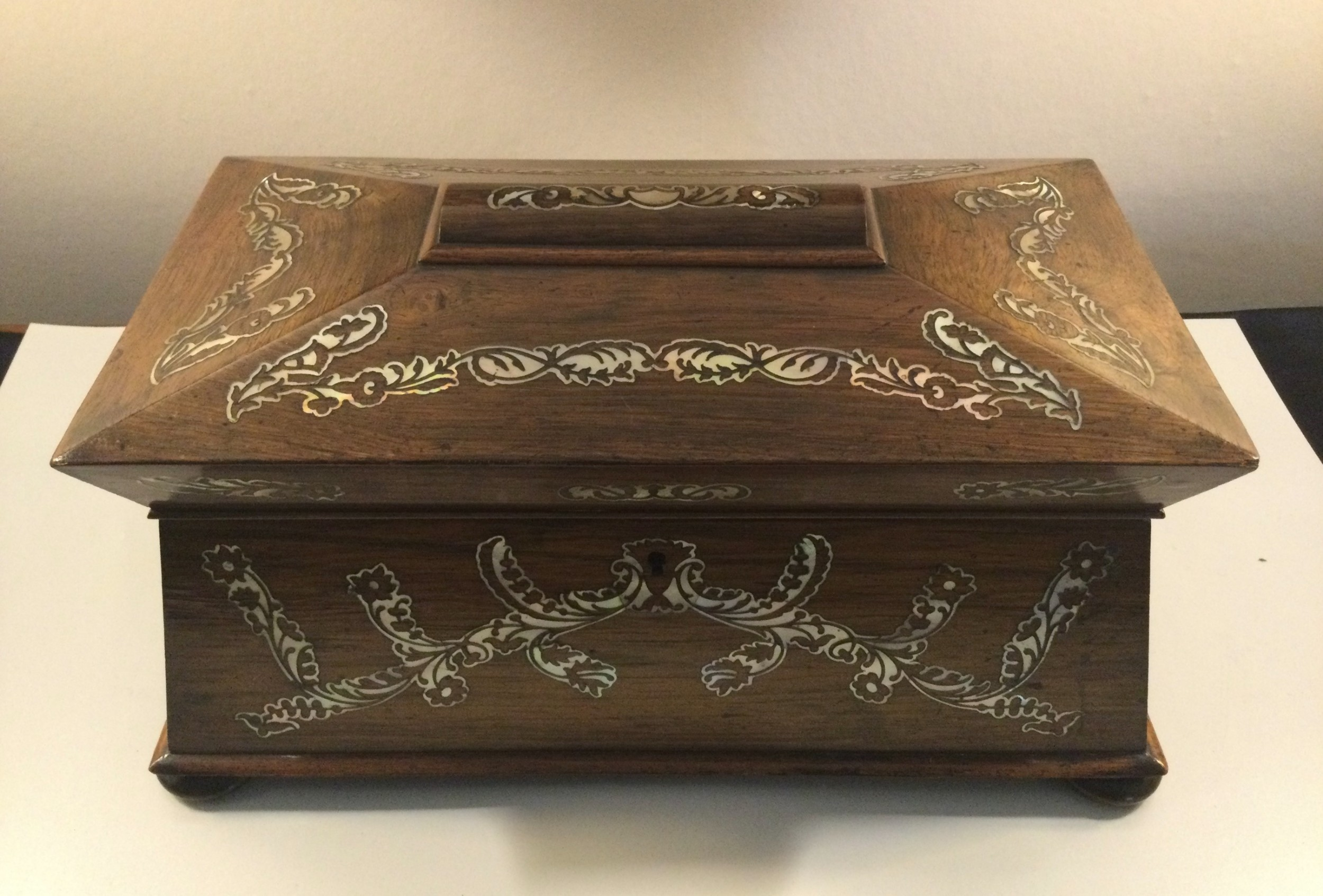 william iv rosewood sarcophagus tea caddy c1830
