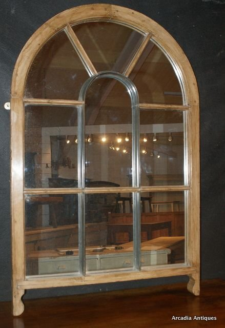 Antique Pine Window Mirror 155141 Sellingantiques Co Uk