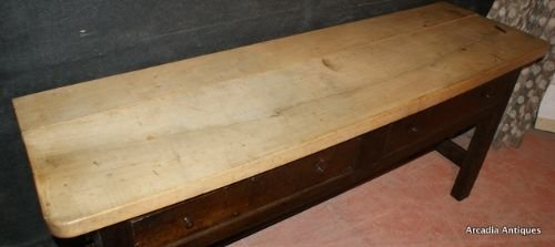welsh oak and sycamore dresser base - photo angle #2