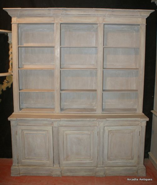 antique painted bookcases 1