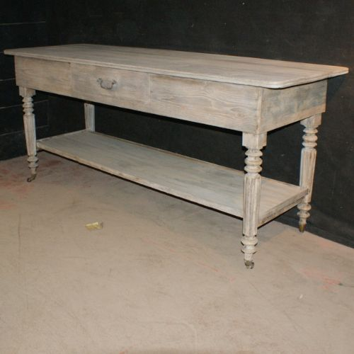 bleached oak drapers table