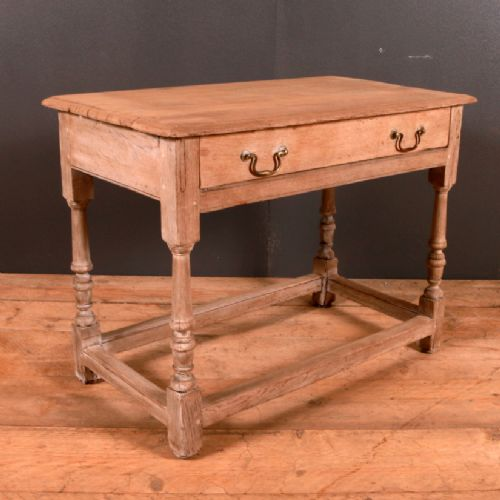 Dated 18th Century. Arcadia Antiques · FRENCH BLEACHED OAK LAMP TABLE