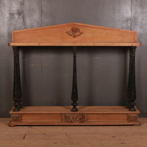 bleached oak console table