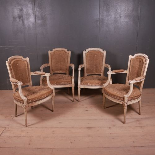 french original painted salon chairs