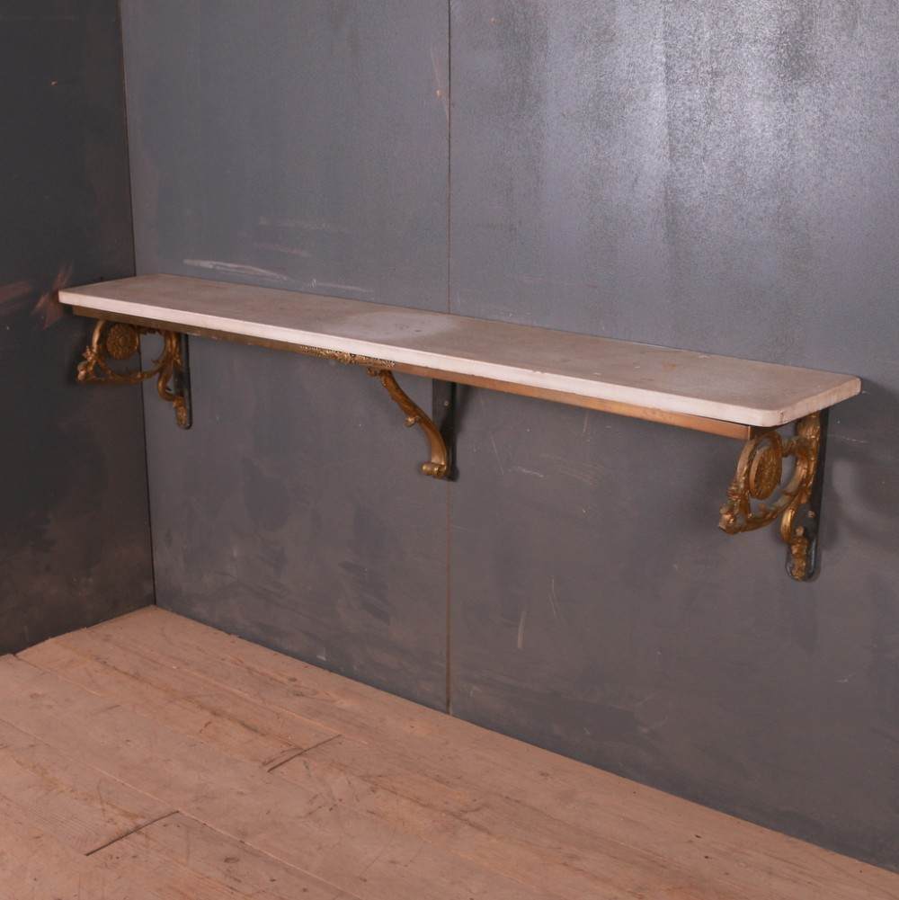 six foot long marble top console table