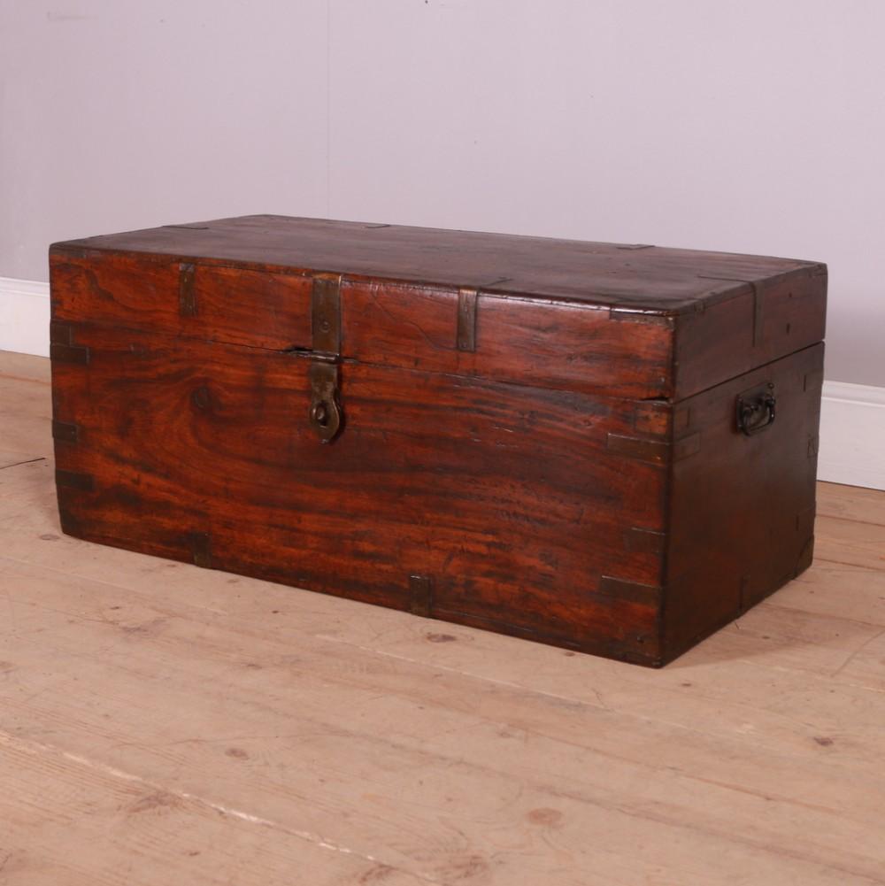 antique camphor travel chest