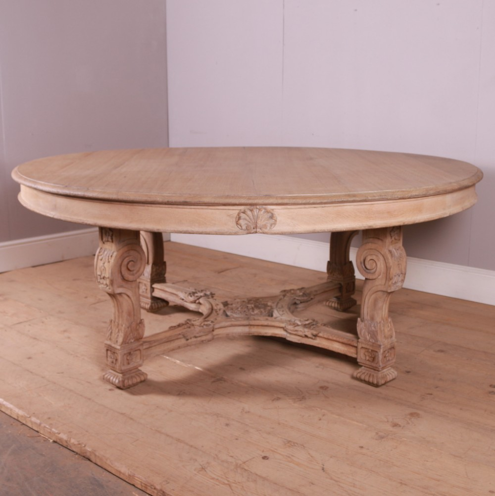 large french carved oak centre table