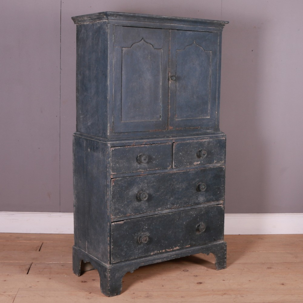painted gothic linen press