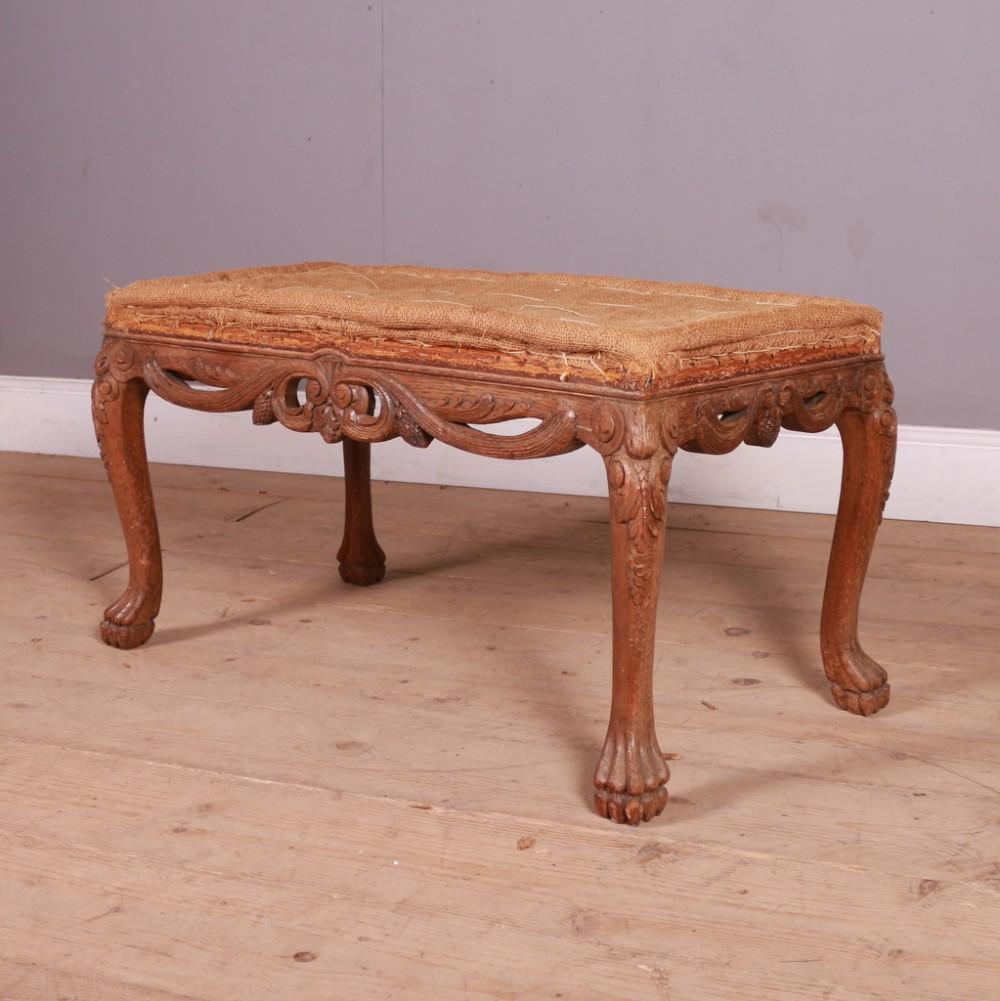 carved italian stool