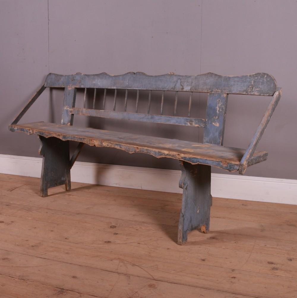 original painted austrian bench