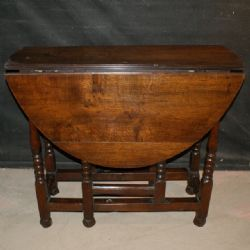 OAK GATELEG TABLE. £495. Dated 1750. Arcadia Antiques