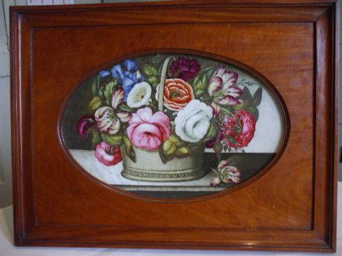 painted porcelain plaque