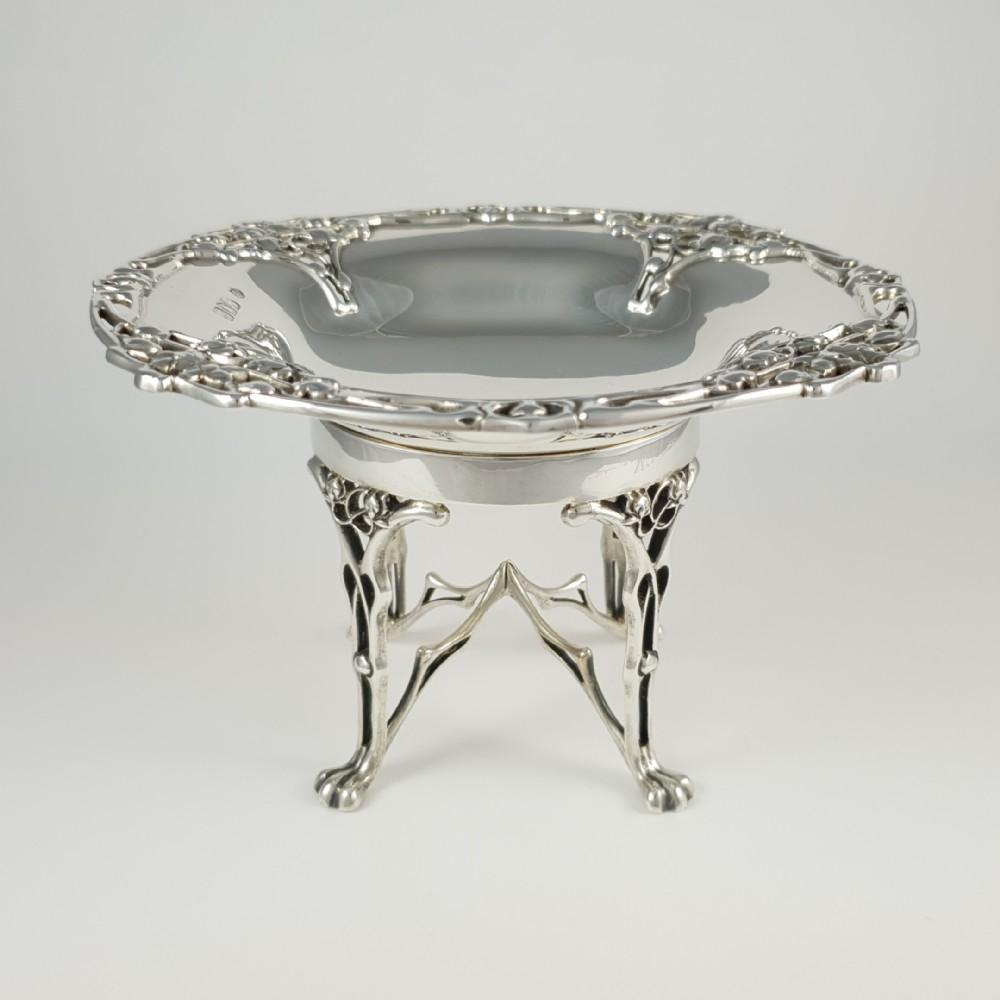 art nouveau sterling silver tazza william hutton sons london 1906