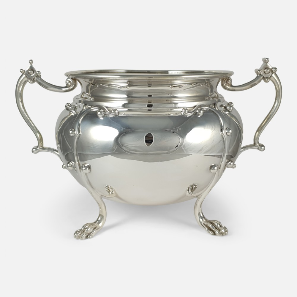 sterling silver twin handled jardiniere bowl wakely wheeler 1905 4448ozt