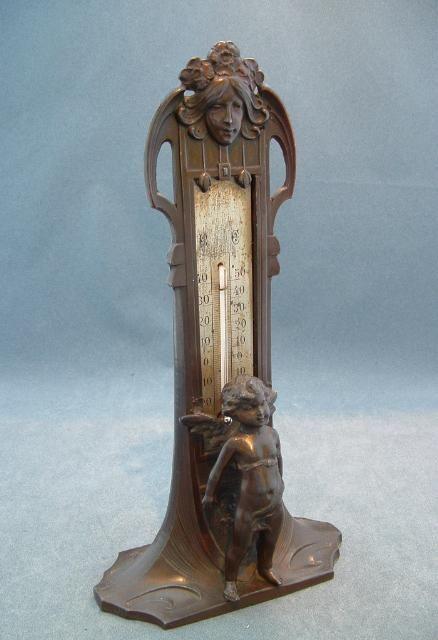 art nouveau thermometer