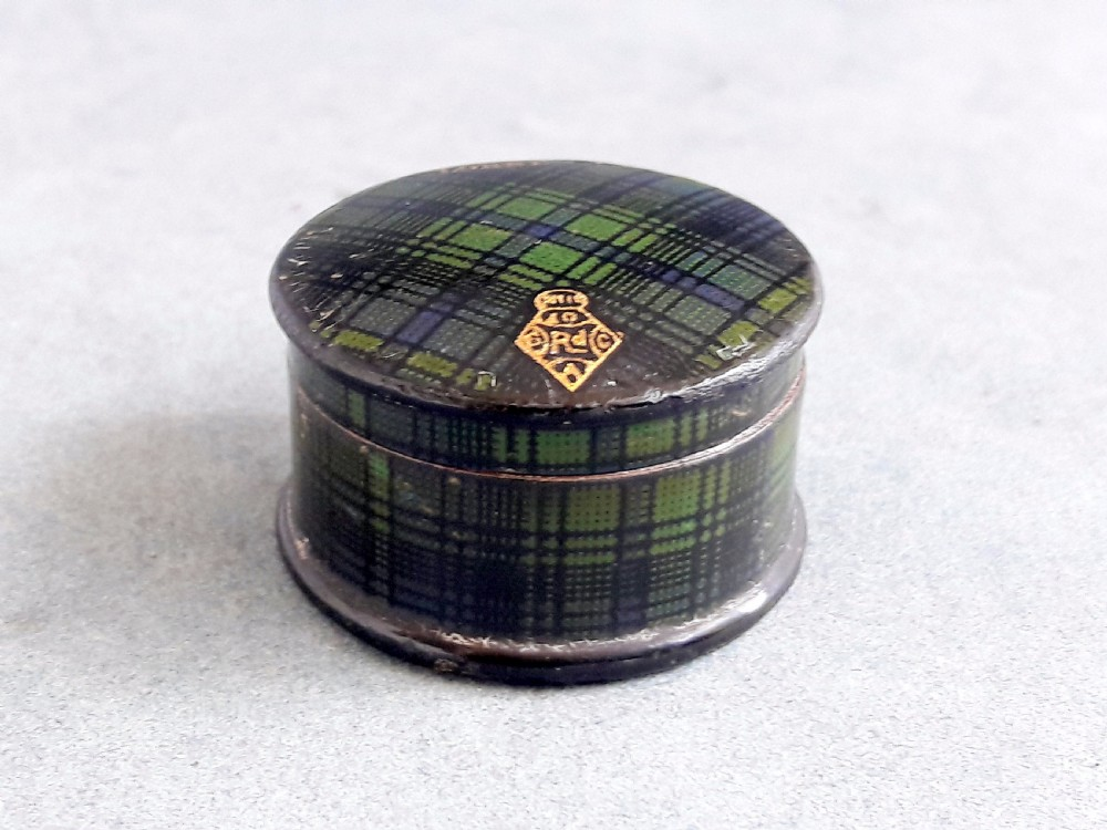 tartanware pill box