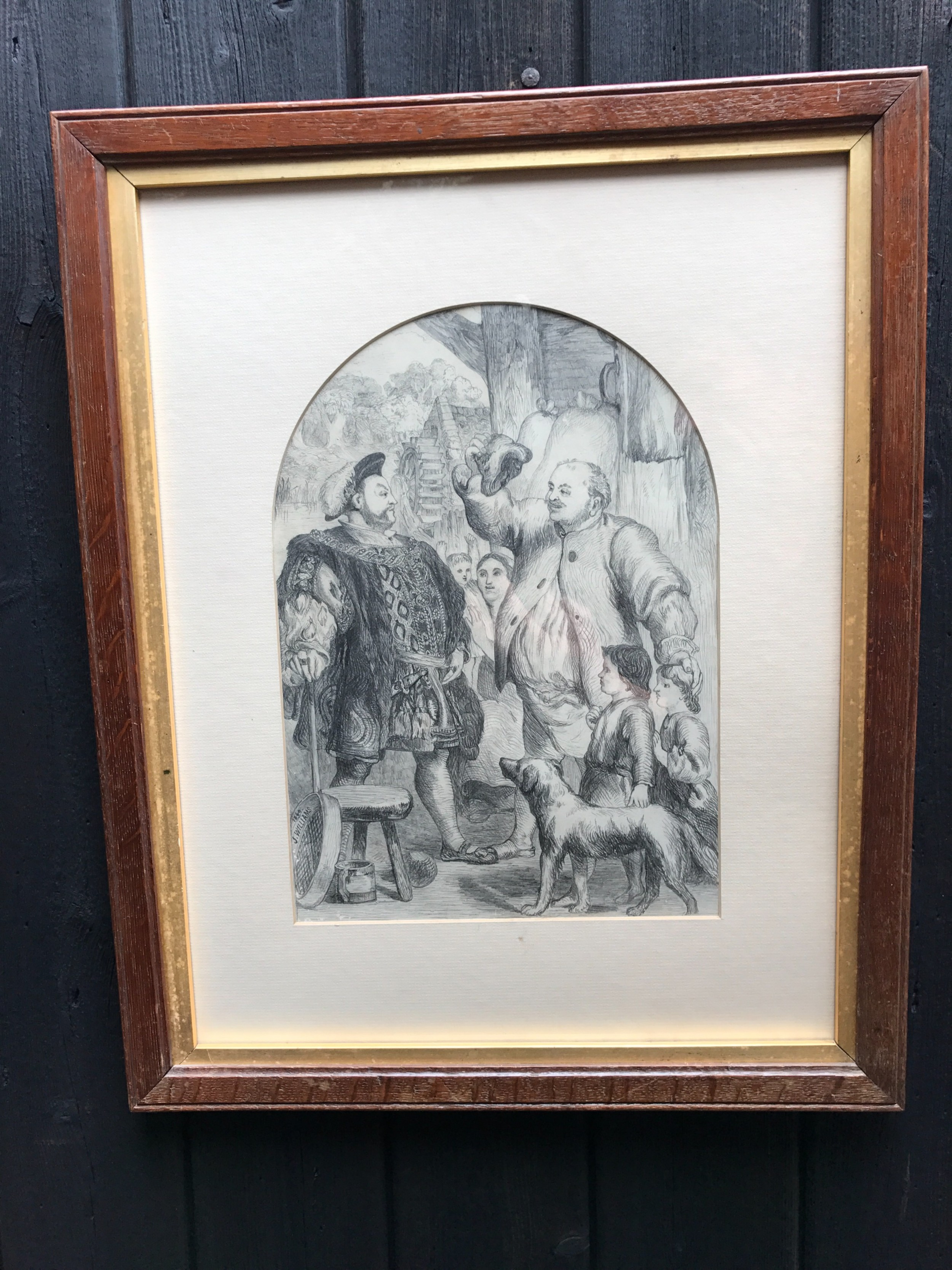 antique drawing henry viii