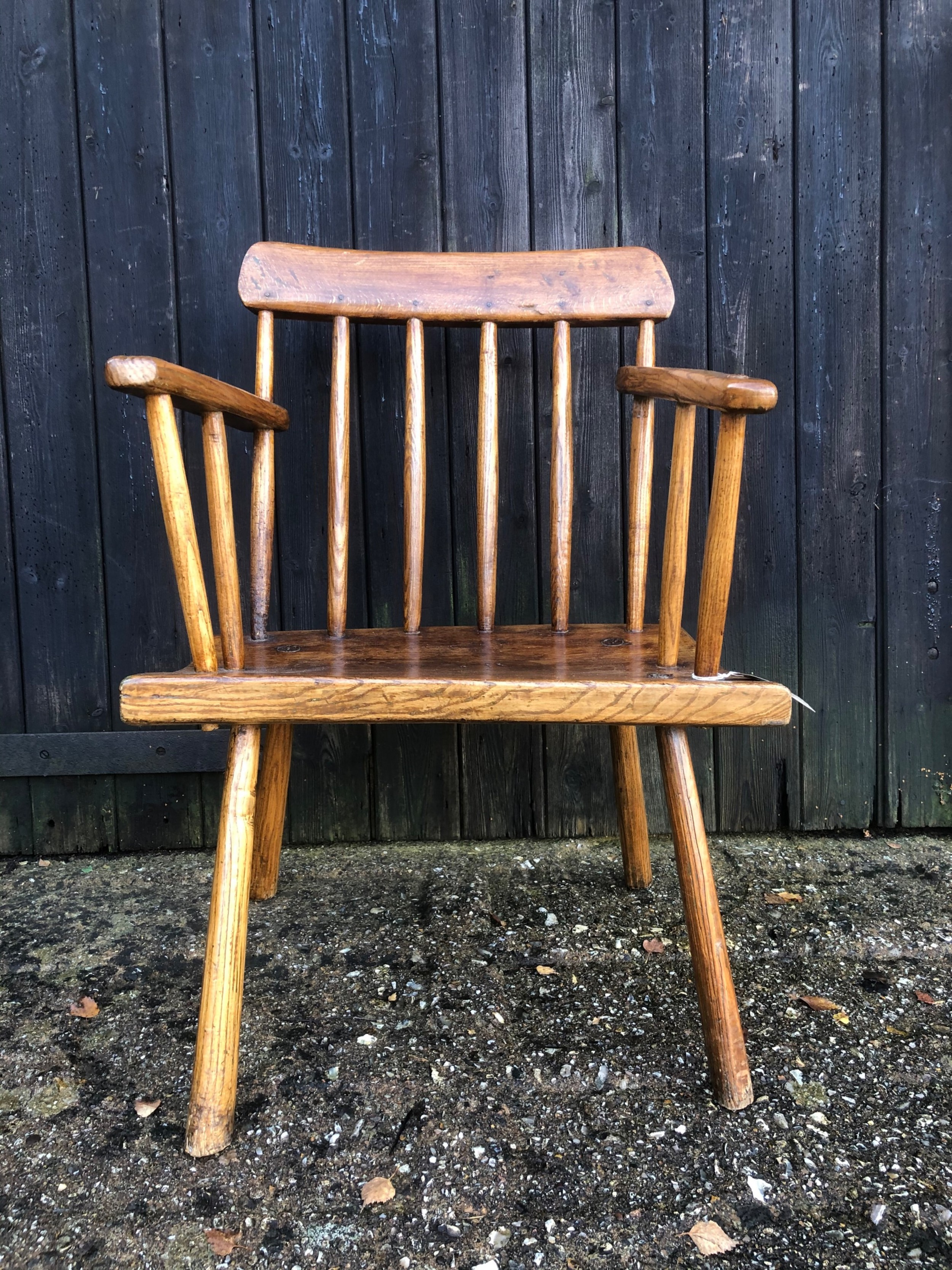 primitive welsh stick back chair