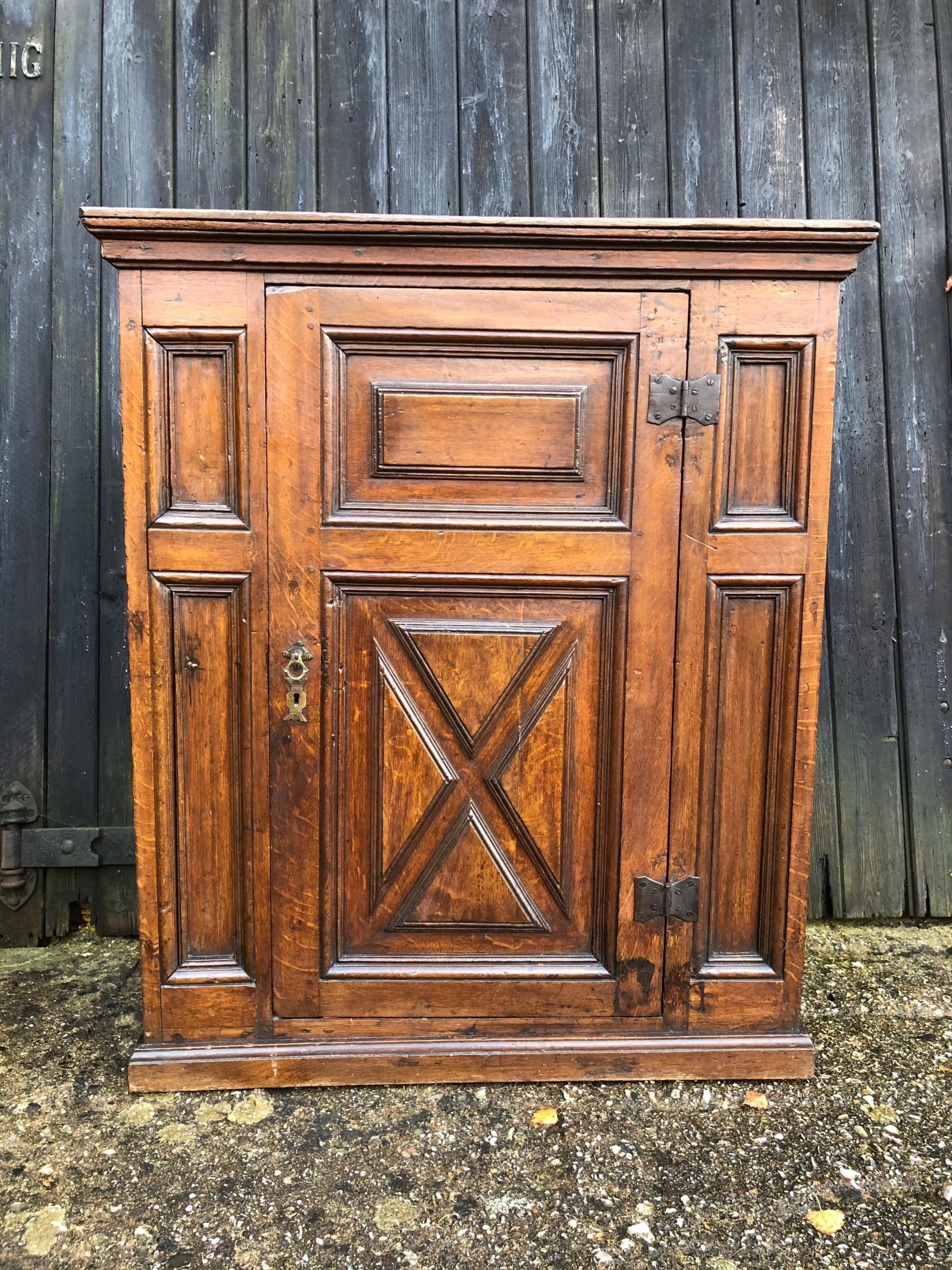 early oak cupboard