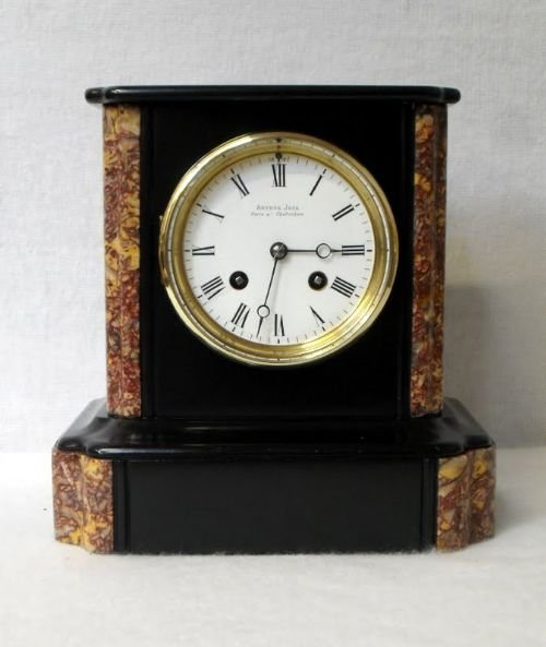 Black Slate And Marble Mantel Clock 161013