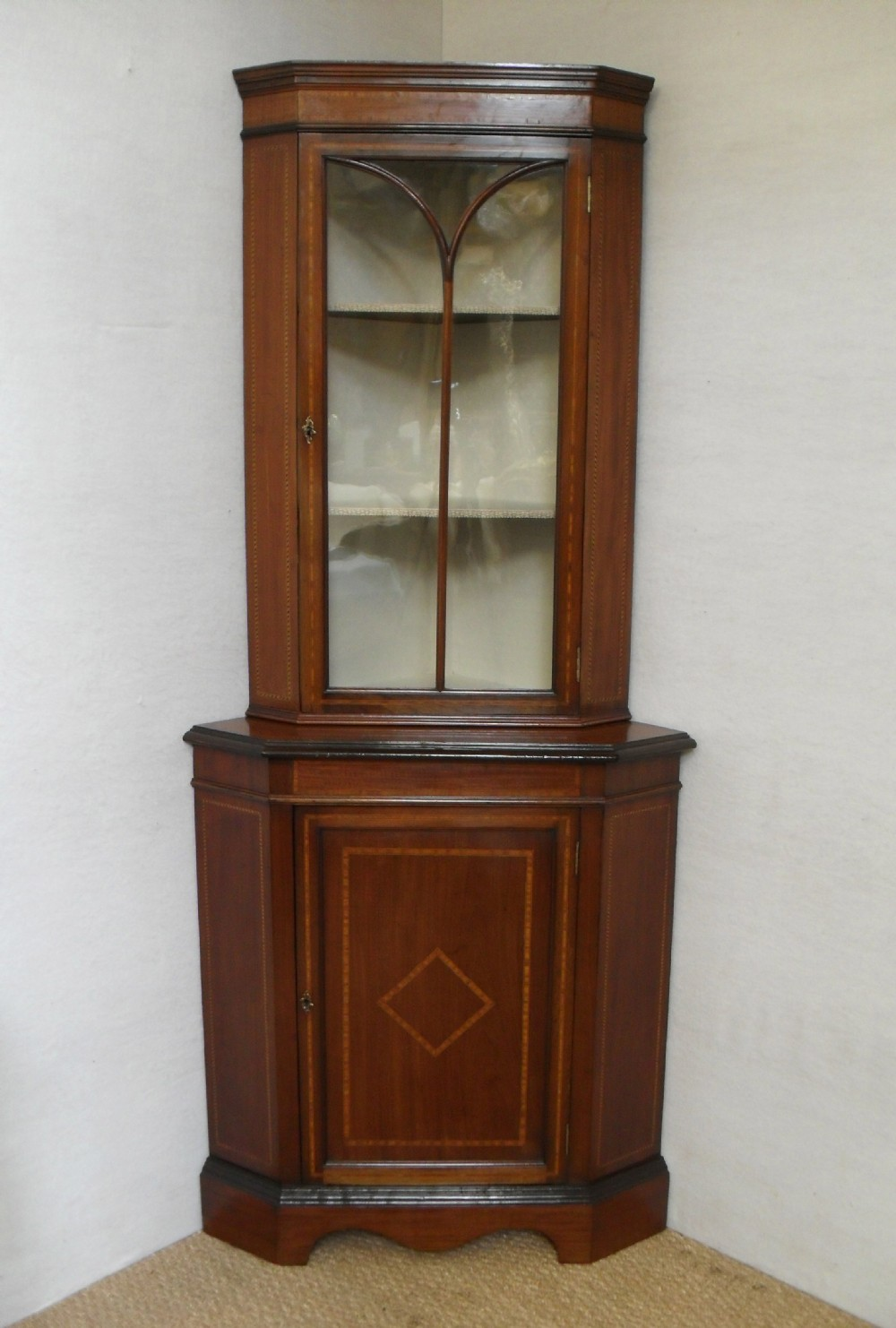 Corner display cabinet 238608 for Corner cabinet