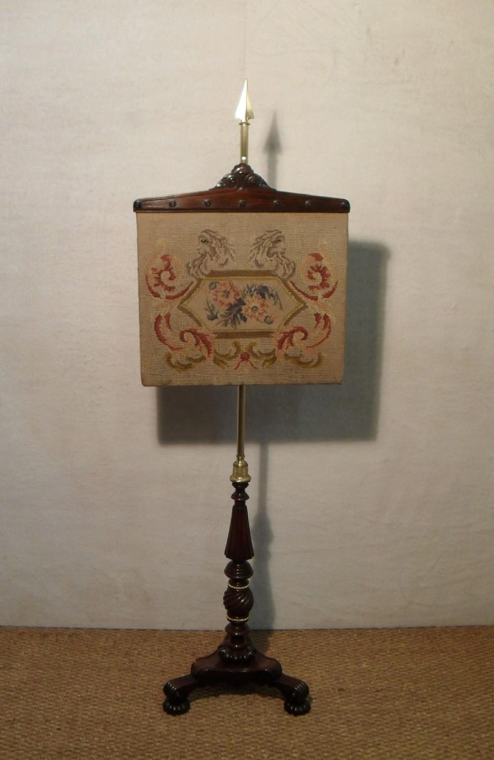 william iv rosewood pole screen