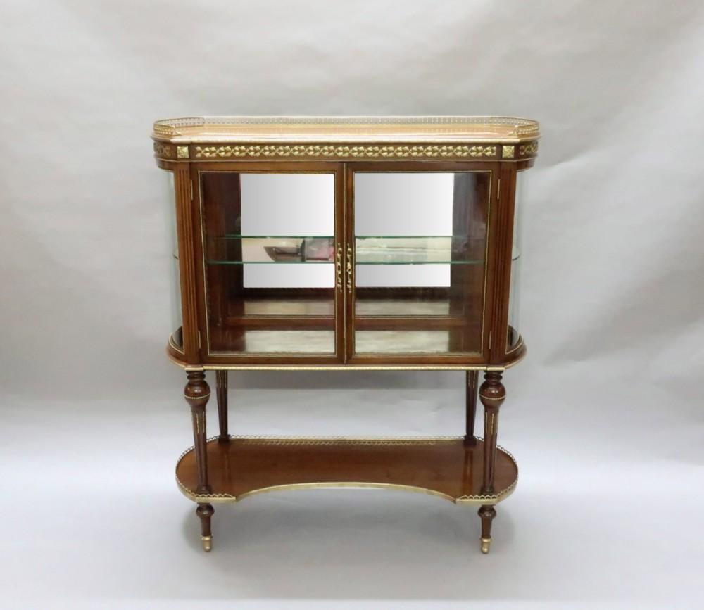 american mahogany glazed display cabinet