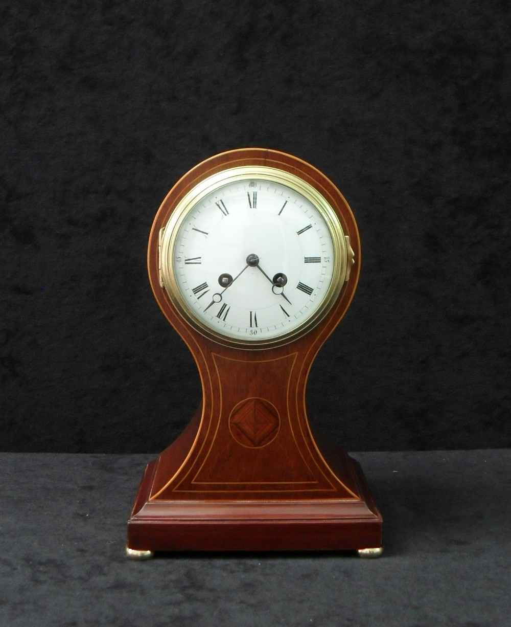 french belle epoque mahogany mantel clock by japy freres