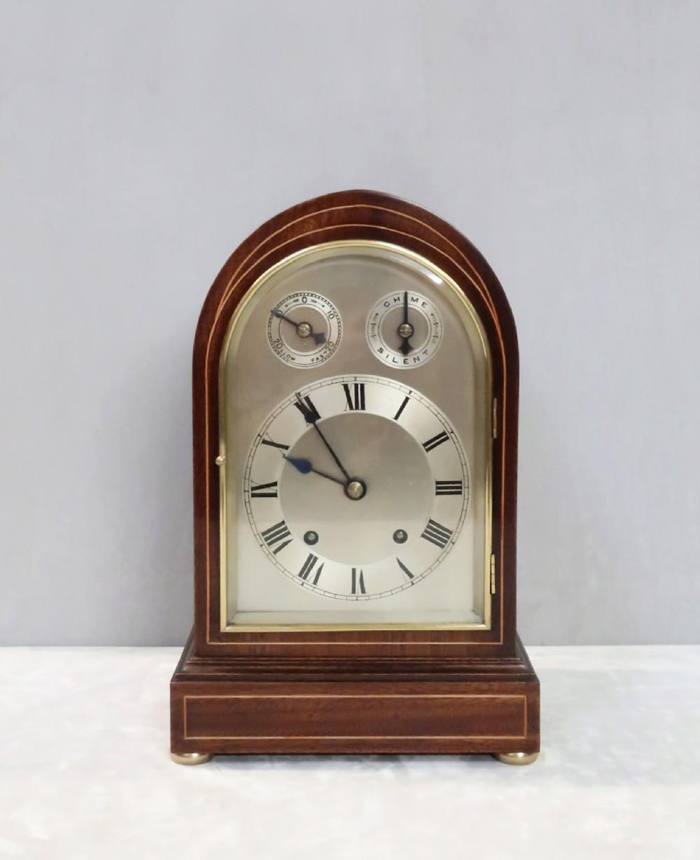 german mahogany bracket clock by winterhalder hofmeier