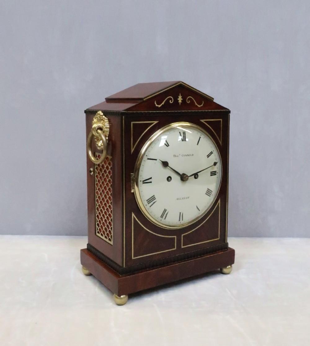 regency mahogany bracket clock by thomas connald