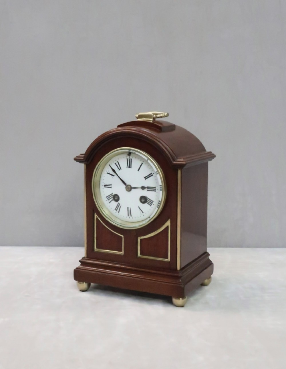 french belle epoque mahogany mantel clock by lp japy
