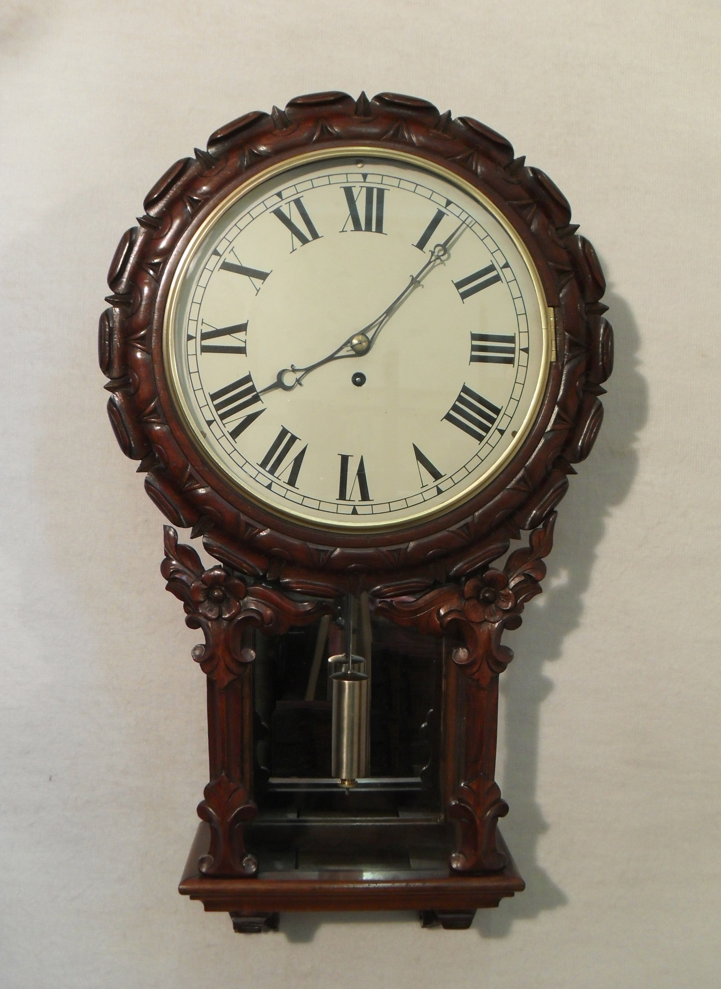 victorian drop dial wall clock