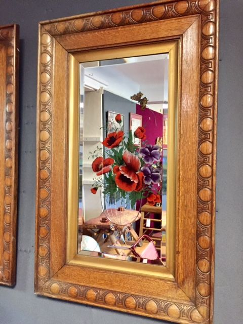The Changing Seasons Set Of 4 Art Nouveau Mirrors In Oak Frames C