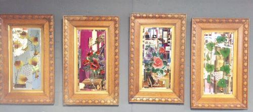 the changing seasons set of 4 art nouveau mirrors in oak frames c1900
