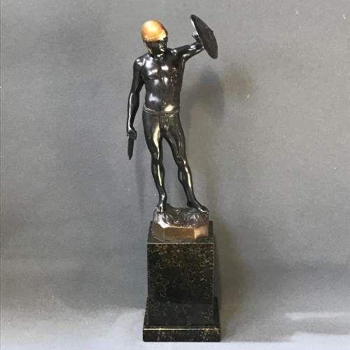 muret german bronze gladiator c1890