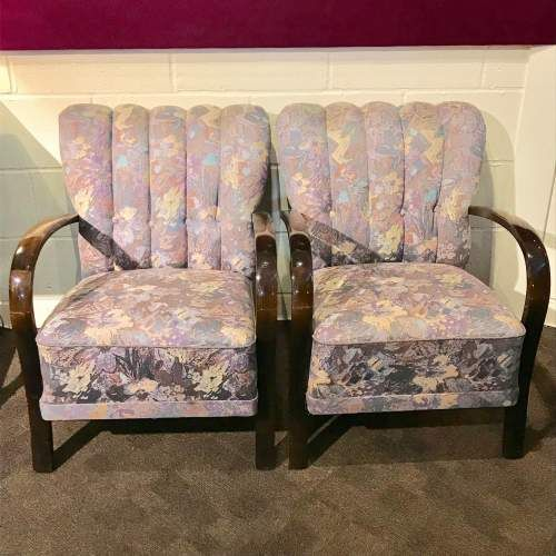 pair of art deco bentwood chairs c1930