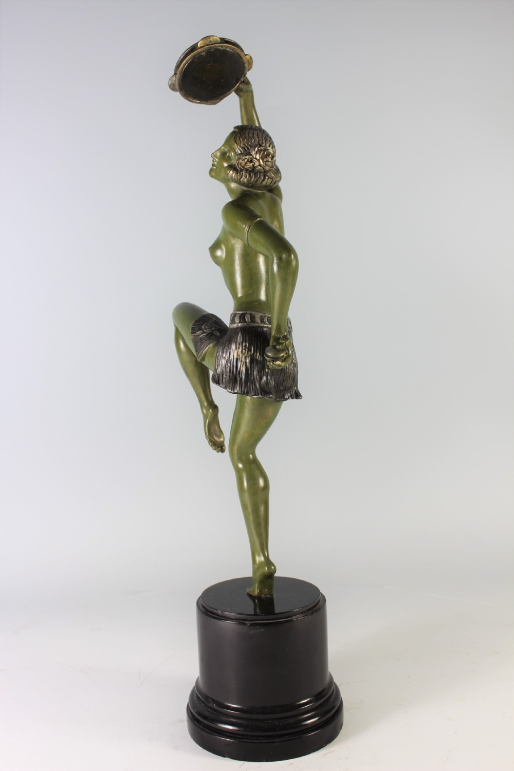 Art Deco French Sculpture of Nude with Trumpet by Guerbe