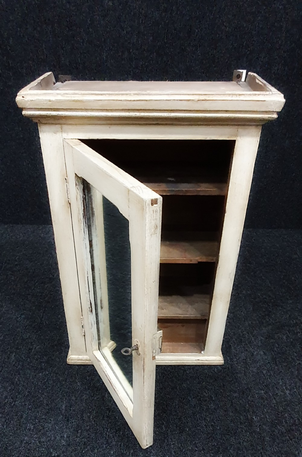 1920 french distressed bathroom cabinet with mirror original key