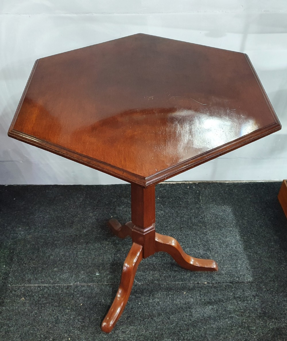 large mahogany pedestal wine table late 19th century early 20th