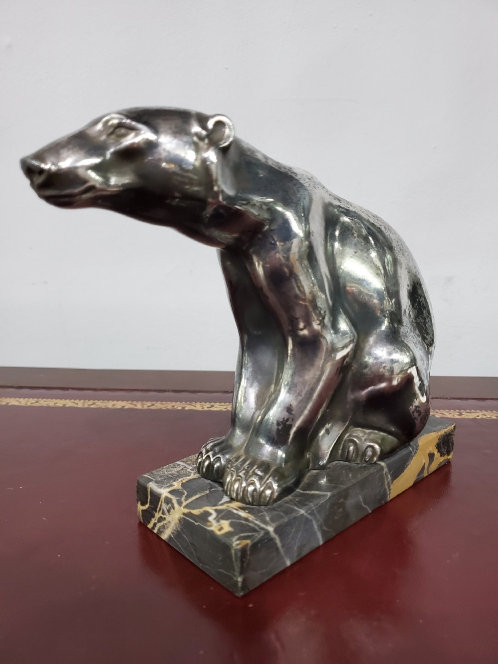 m font french art deco polar bear c1920s